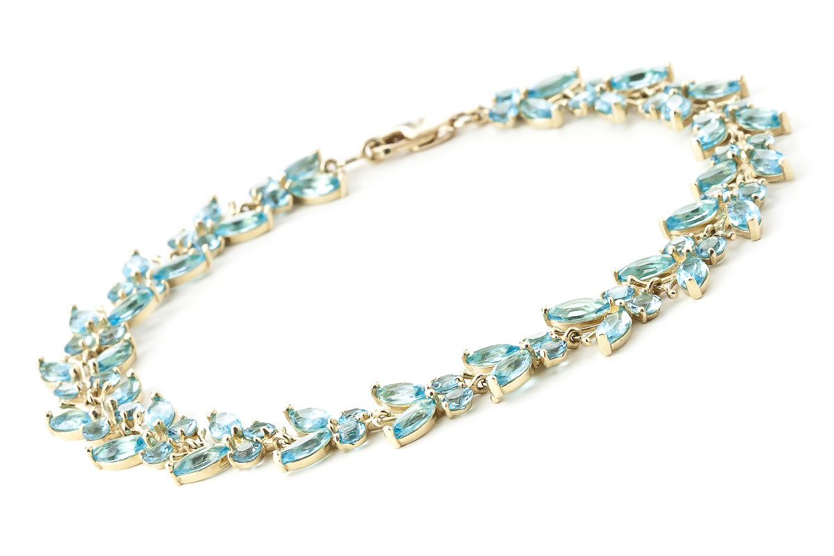 Blue Topaz Butterfly Bracelet 16.5 ctw in 9ct Gold