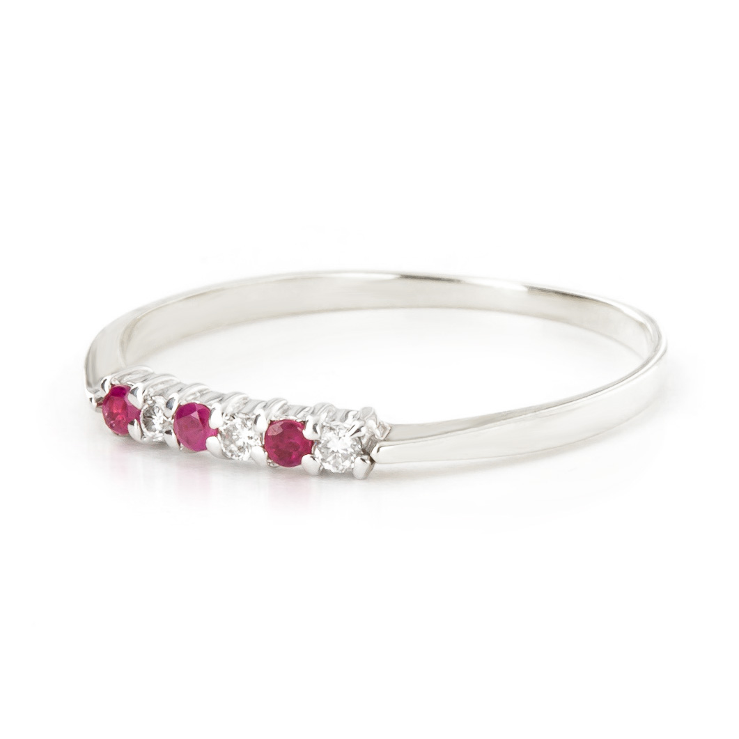 Diamond & Ruby Eternity Ring in 9ct White Gold