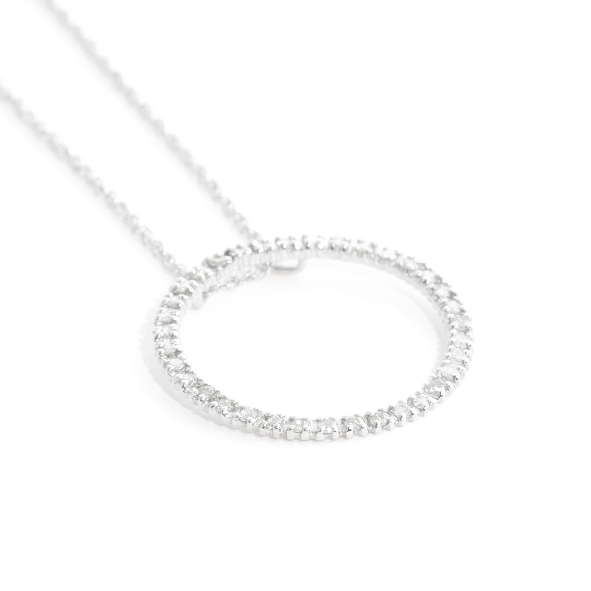 Diamond Circle of Life Pendant Necklace 0.52 ctw in 9ct White Gold