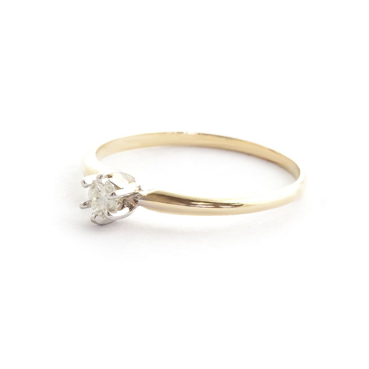 Diamond Crown Solitaire Ring 0.15 ct in 9ct Gold