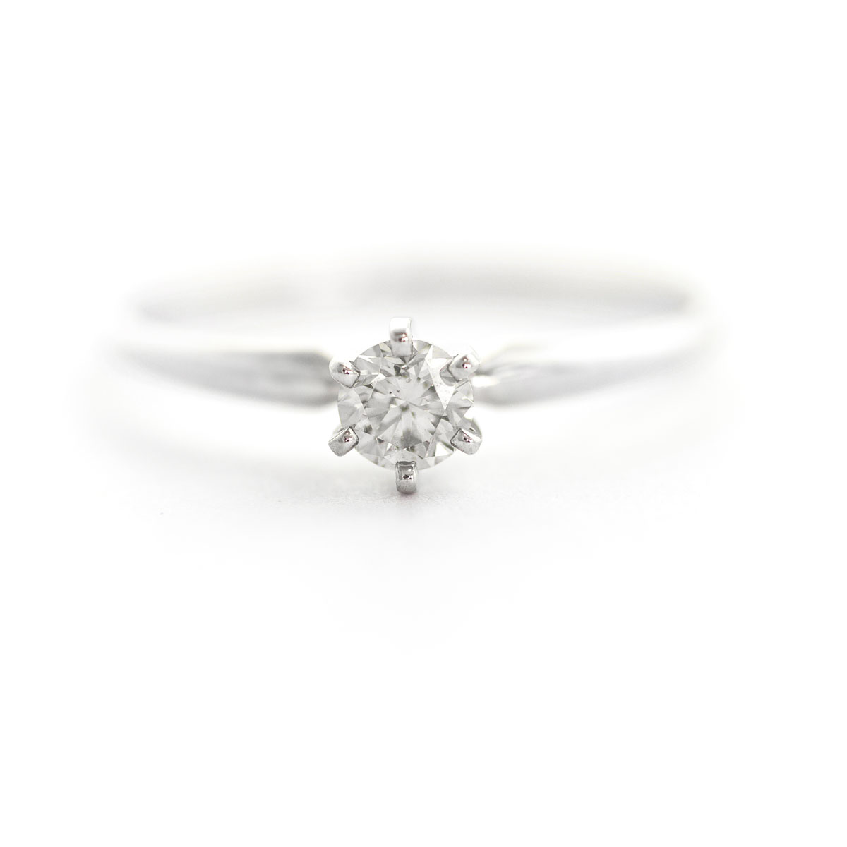 Diamond Crown Solitaire Ring 0.25 ct in 9ct White Gold