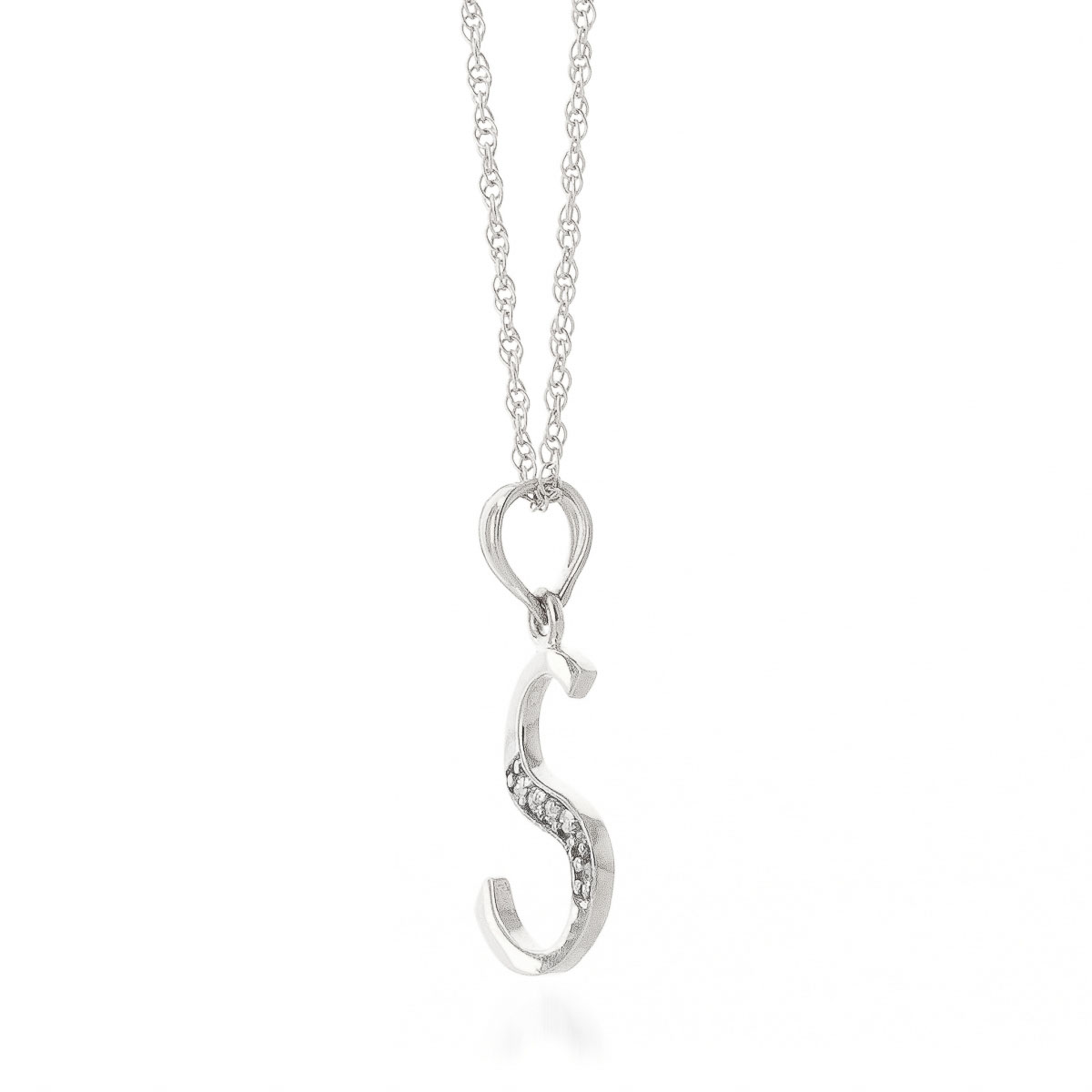 Diamond letter initial s pendant necklace in 9ct white gold 5632w diamond letter initial s pendant necklace in 9ct white gold aloadofball Choice Image