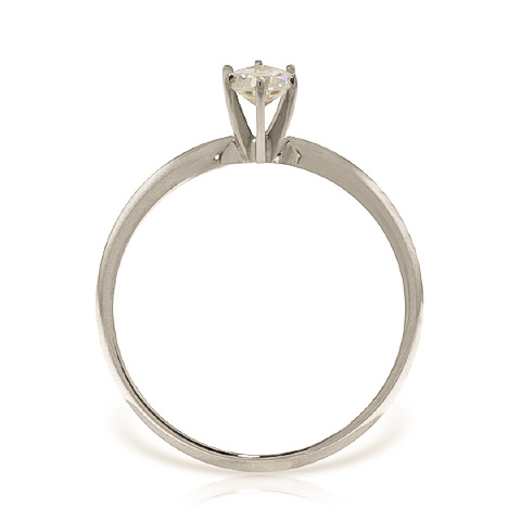 Diamond Solitaire Ring 0.3 ct in 9ct White Gold