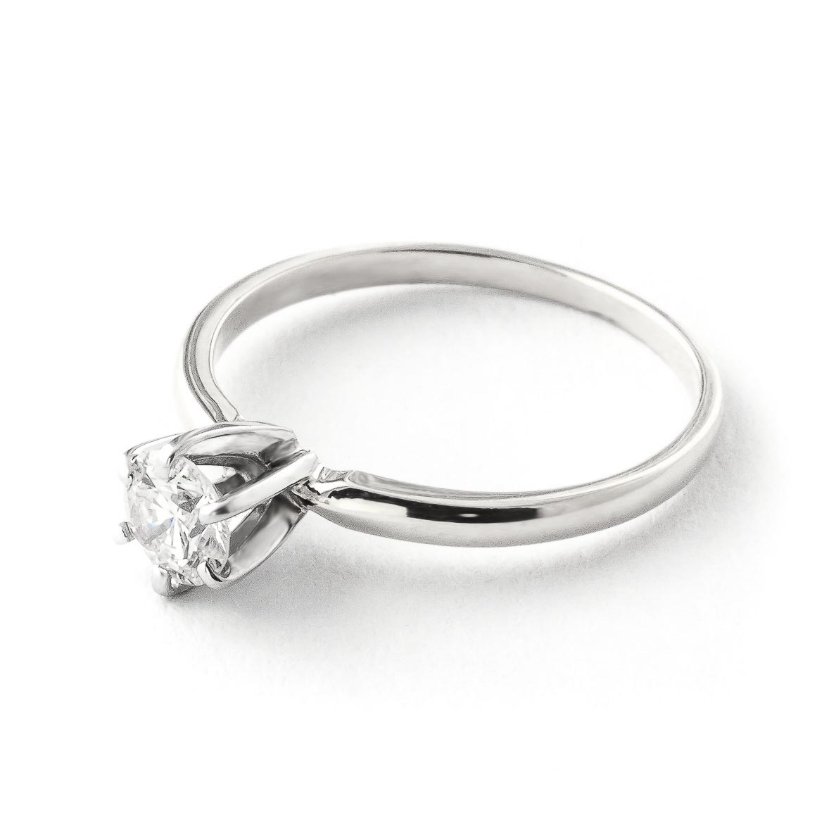 Diamond Solitaire Ring 0.4 ct in 9ct White Gold