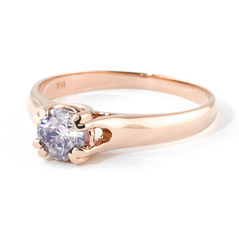 Diamond Solitaire Ring 0.75 ct in 9ct Rose Gold