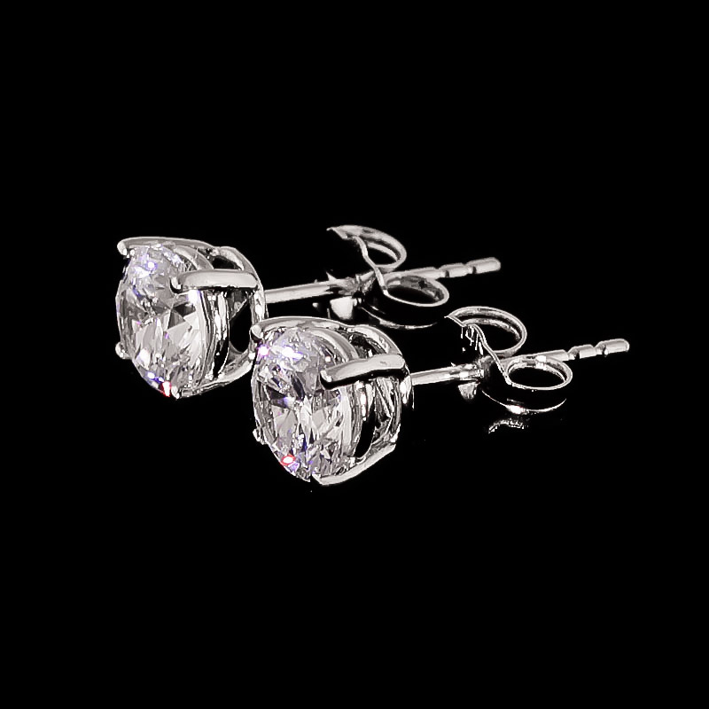 Diamond Stud Earrings 1.5 ctw in 9ct White Gold