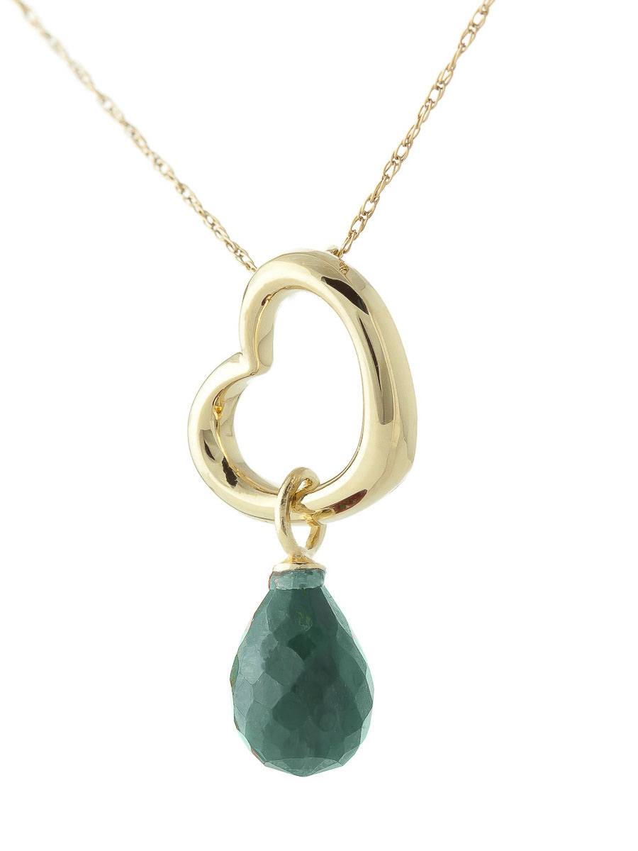 Emerald heart pendant necklace 33 ct in 9ct gold 5366y qp jewellers emerald heart pendant necklace 33 ct in 9ct gold aloadofball Images