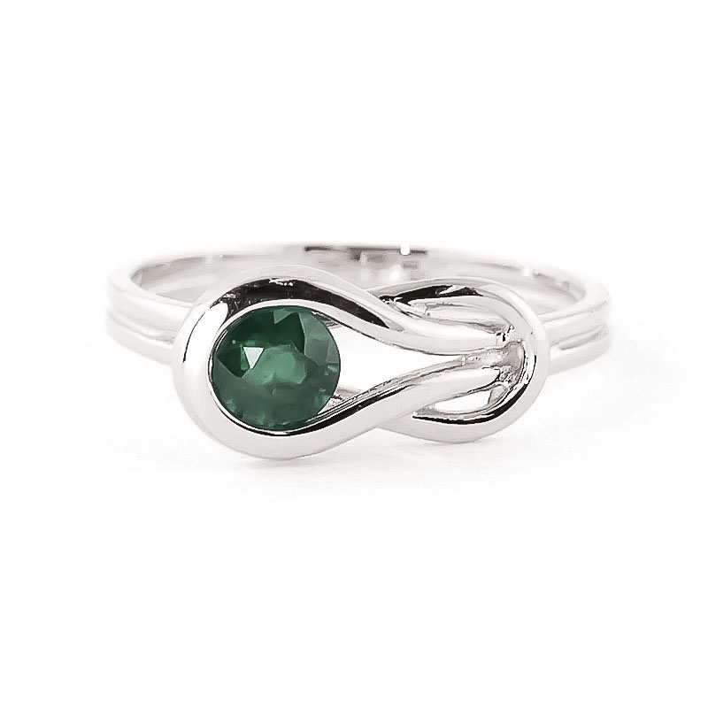 Emerald San Francisco Ring 0.65 ct in 9ct White Gold