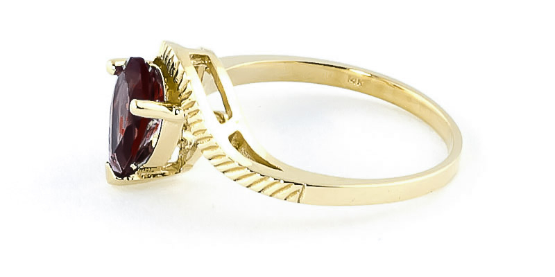 Garnet & Diamond Belle Ring in 9ct Gold