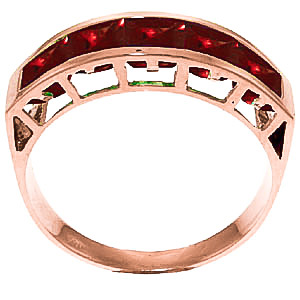 Garnet Prestige Ring 2.25 ctw in 9ct Rose Gold