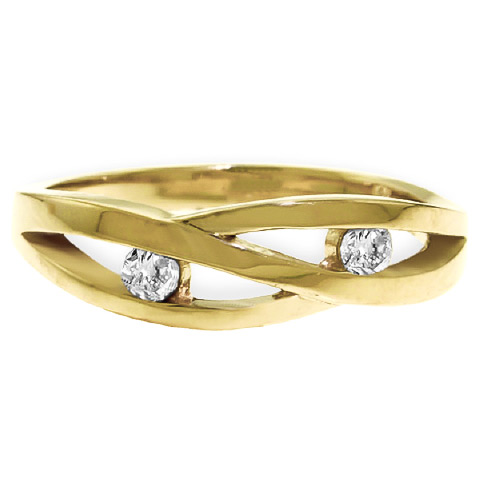 Round Brilliant Cut Diamond Channel Set Ring in 9ct Gold