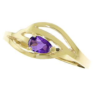 Pear Cut Amethyst Ring 0.3ct in 9ct Gold