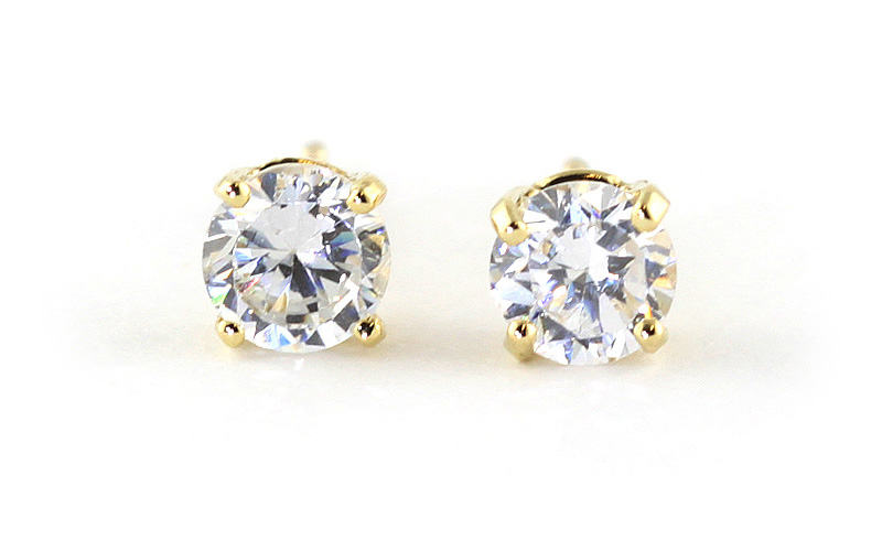Diamond Stud Earrings in 9ct Gold
