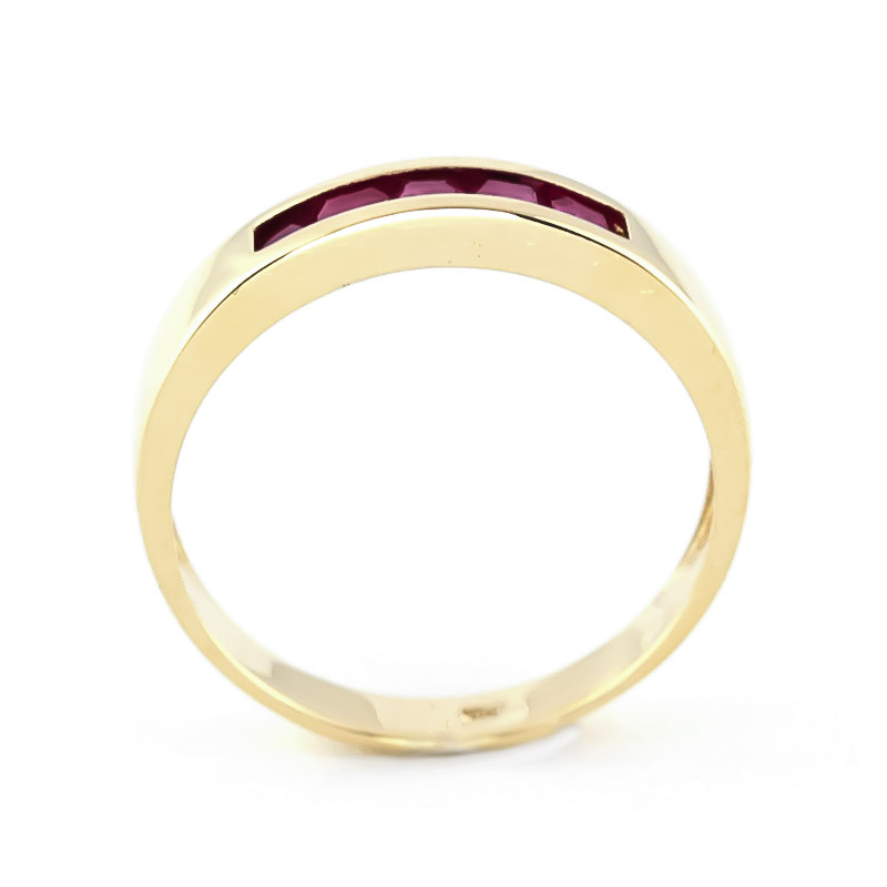 Princess Cut Ruby Ring 0.6ctw in 9ct Gold