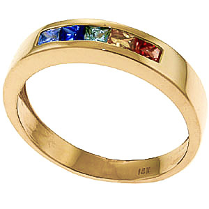 Princess Cut Sapphire Ring 0.6ctw in 9ct Gold