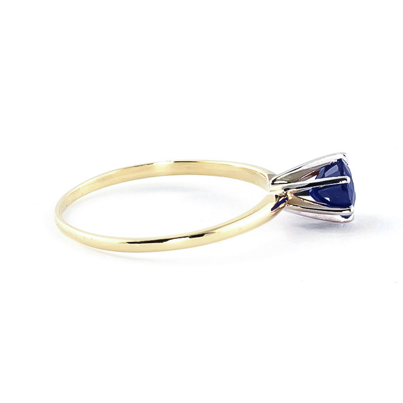 Sapphire Crown Solitaire Ring 0.65ct in 9ct Gold