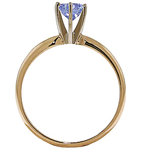 Tanzanite Crown Solitaire Ring 0.65ct in 9ct Gold