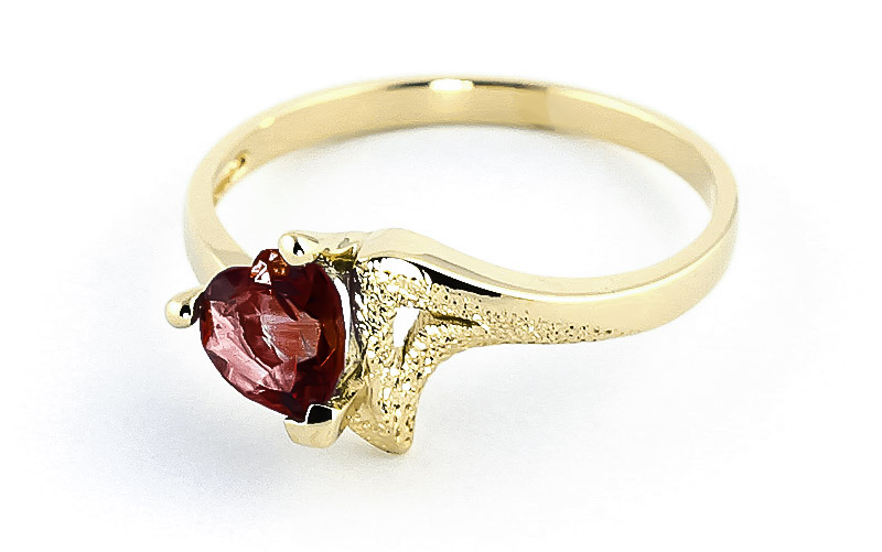 Garnet Devotion Heart Ring 0.9ct in 9ct Gold