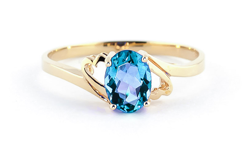 Blue Topaz Classic Desire Ring 0.95ct in 9ct Gold