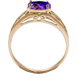Amethyst Catalan Filigree Ring 1.15ct in 9ct Gold