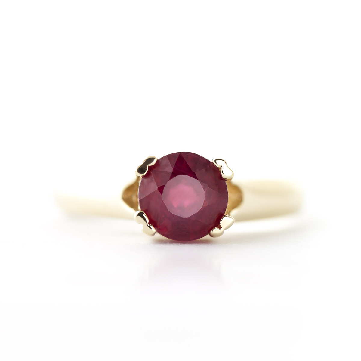 Round Brilliant Cut Ruby Solitaire Ring 1.35ct in 9ct Gold