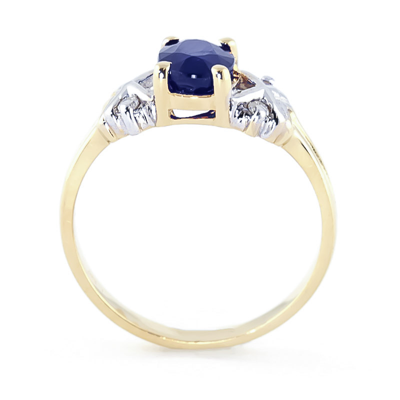 Sapphire and Diamond Ring 1.35ct in 9ct Gold