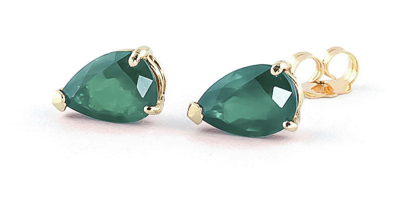 Emerald Stud Earrings 2.0ctw in 9ct Gold