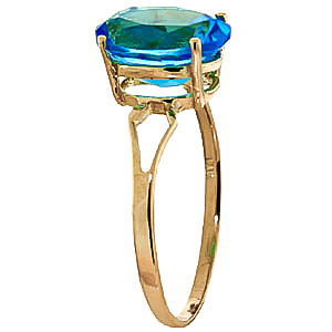 Blue Topaz Claw Set Ring 2.2ct in 9ct Gold
