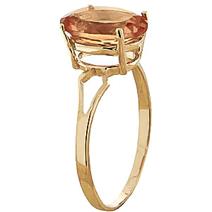 Citrine Claw Set Ring 2.2ct in 9ct Gold