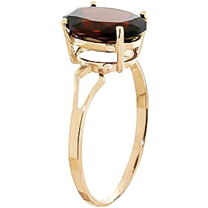 Garnet Claw Set Ring 2.2ct in 9ct Gold