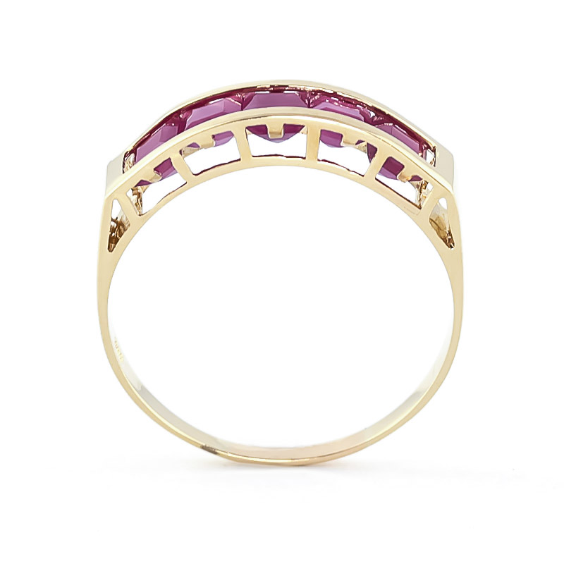Square Cut Ruby Ring 2.5ctw in 9ct Gold