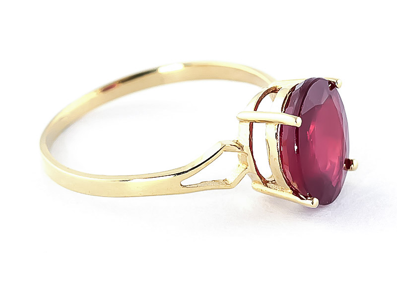 Ruby Claw Set Ring 3.5ct in 9ct Gold