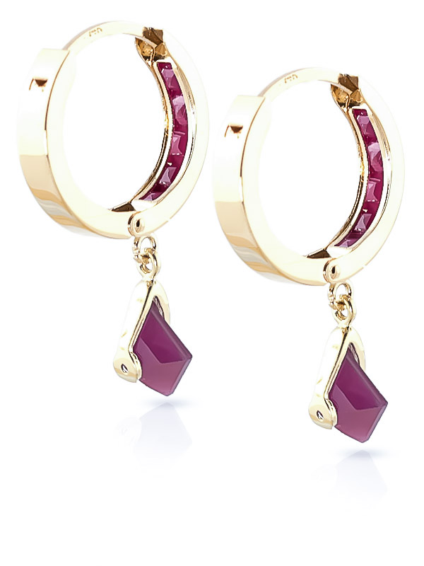 Ruby Earrings 3.7ctw in 9ct Gold