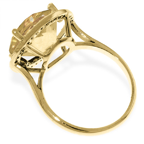 Citrine and Diamond Halo Ring 6.0ct in 9ct Gold