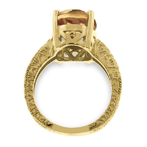 Oval Cut Citrine Ring 6.5ctw in 9ct Gold