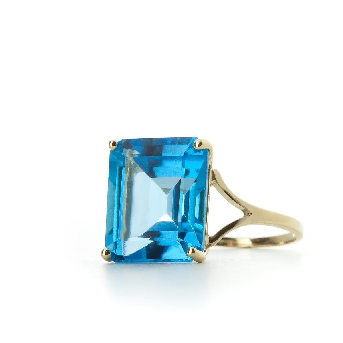 Blue Topaz Ring 7.0ct in 9ct Gold