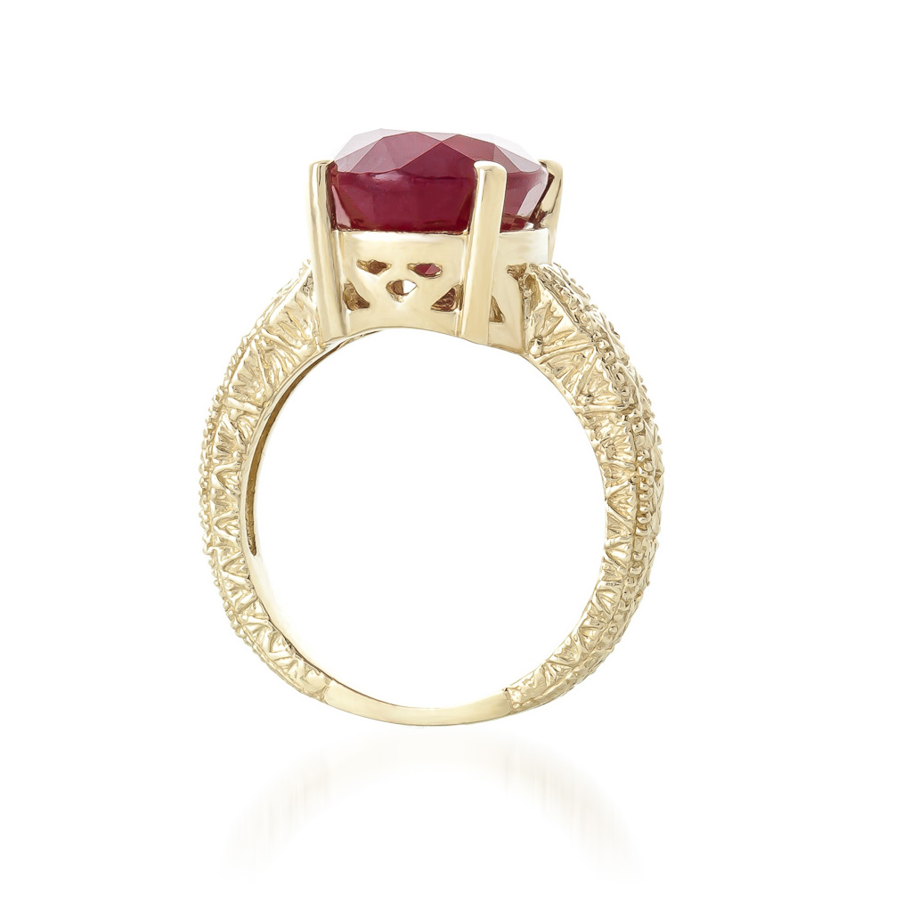 Oval Cut Ruby Ring 8.0ctw in 9ct Gold