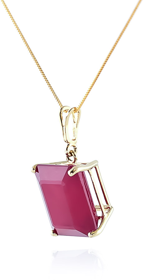 Ruby Pendant Necklace 6.5ct in 9ct Gold