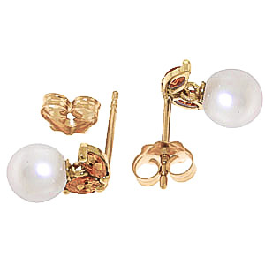 Pearl and Citrine Snowdrop Stud Earrings 4.4ctw in 9ct Gold
