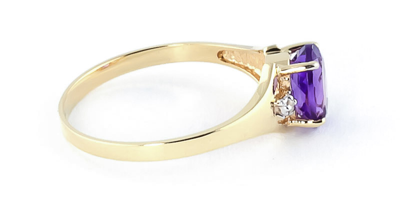 Amethyst and Diamond Desire Ring 0.75ct in 9ct Gold