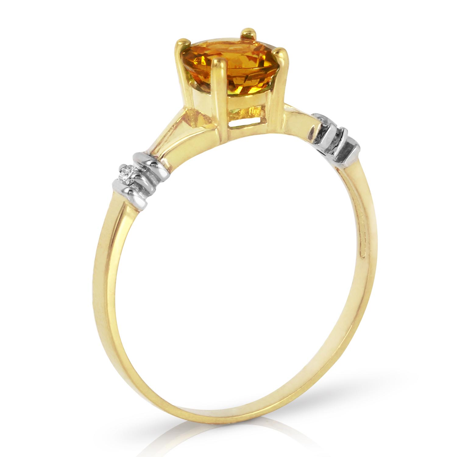 Citrine and Diamond Aspire Ring 1.0ct in 9ct Gold