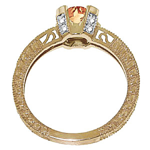 Citrine and Diamond Renaissance Ring 1.5ct in 9ct Gold