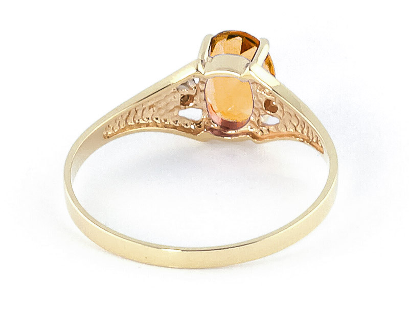 Citrine and Diamond Desire Ring 0.75ct in 9ct Gold