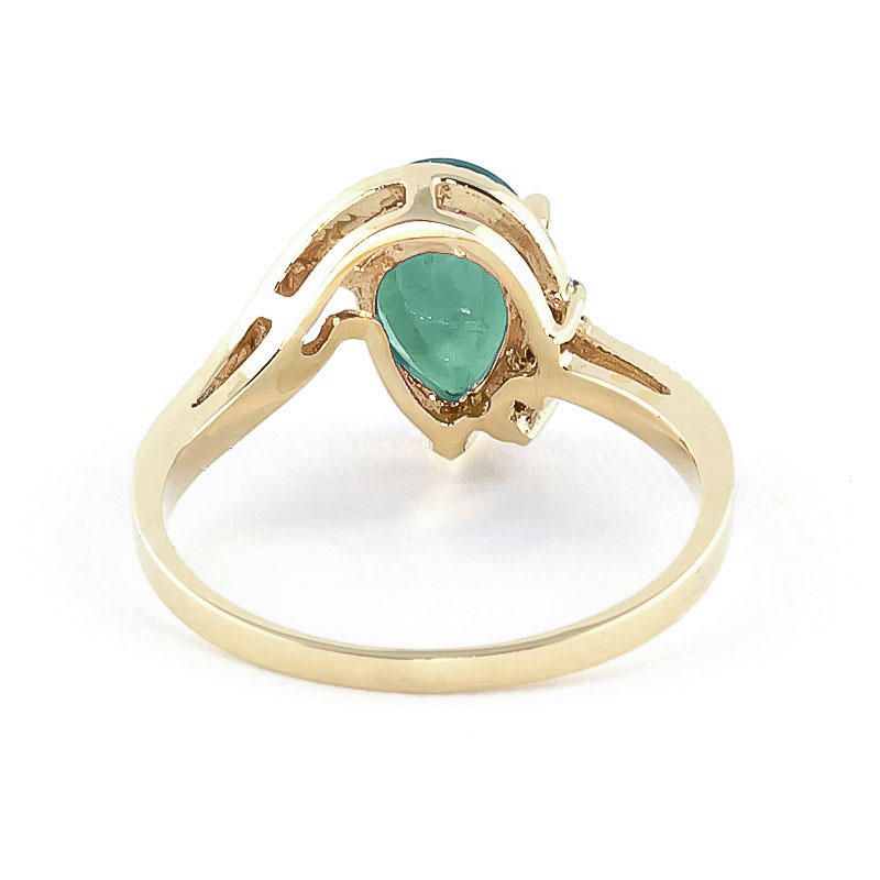 Emerald and Diamond Belle Ring 1.0ct in 9ct Gold