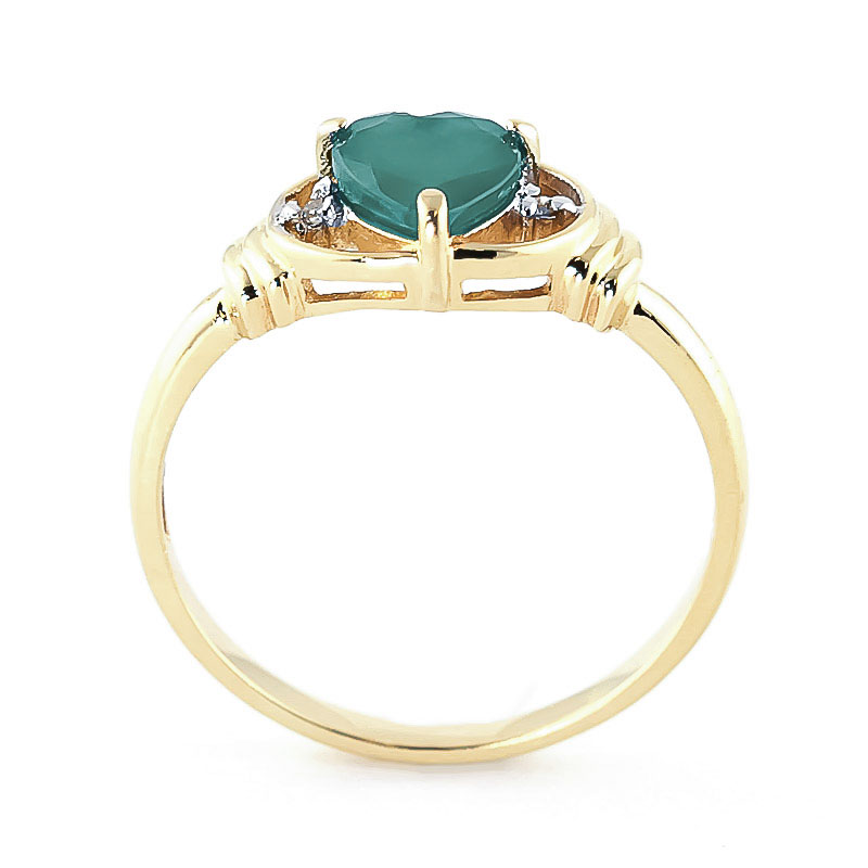 Emerald and Diamond Ring 1.0ct in 9ct Gold