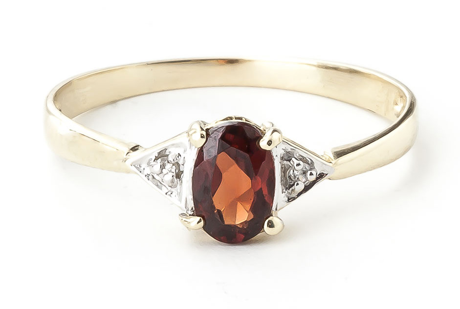 Garnet and Diamond Allure Ring 0.45ct in 9ct Gold