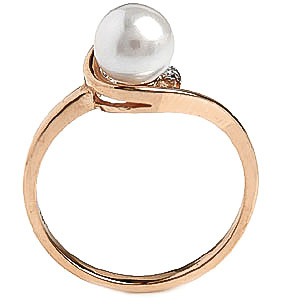 Pearl and Diamond Twist Ring 2.0ct in 9ct Gold