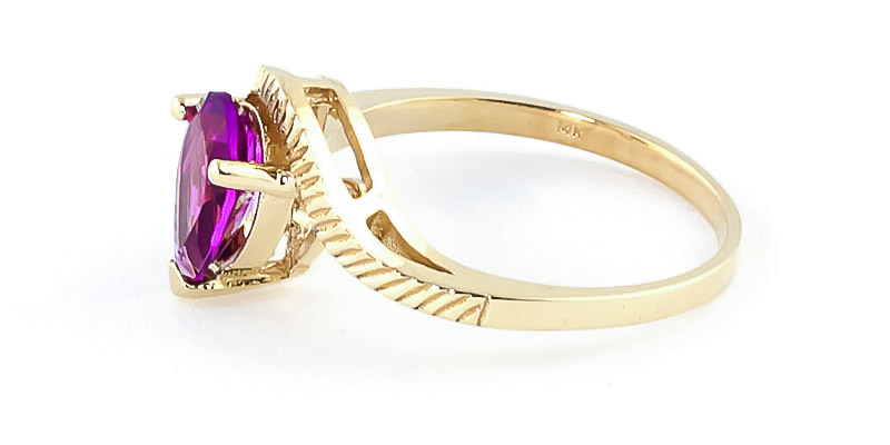 Pink Topaz and Diamond Belle Ring 1.5ct in 9ct Gold
