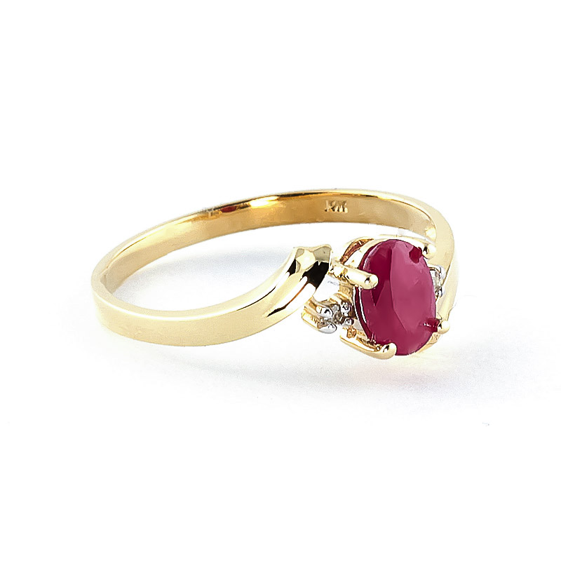 Ruby and Diamond Embrace Ring 0.45ct in 9ct Gold