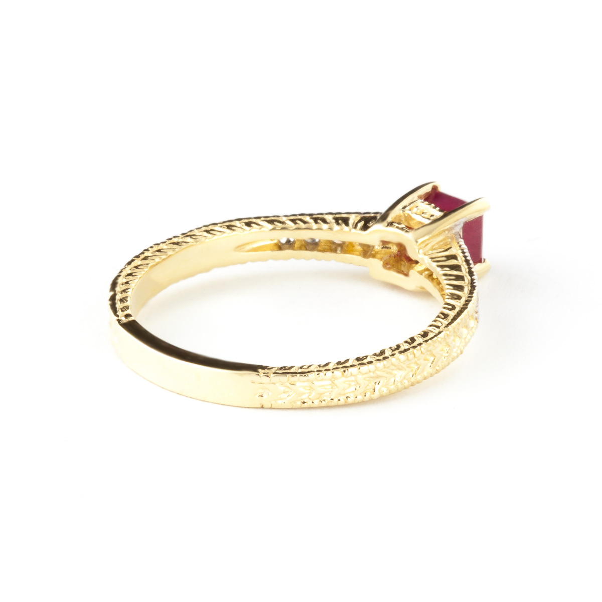 Ruby and Diamond Shoulder Set Ring 0.5ct in 9ct Gold - 3048Y | QP ...